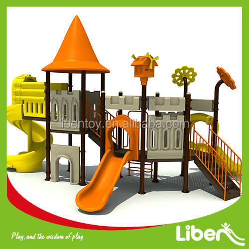 kids amusement park facilities funny children outdoor playground colorful slide toys equipment LE.CB.002
