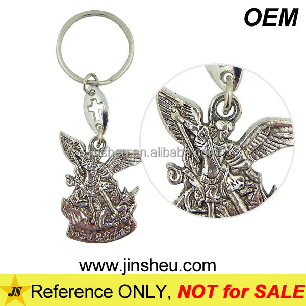 Customized Courage Strength Saint Archangel Michael Angel Key Chain