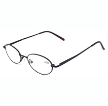 Custom made slim metal round reading glasses
