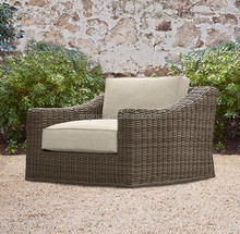 Country style ratan import garden furniture with divan design wicker outdoor lounge chair
