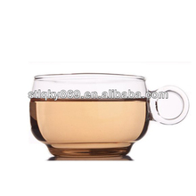 2014 New style Creative Ring Ring Cup glass tea cup drink cup with handle