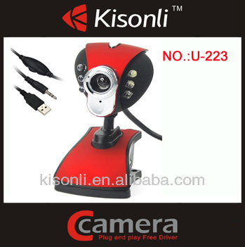 USB 6 LED PC Webcam Camera plus + Night Vision MSN, ICQ, AIM, Skype, Net Meeting and compatible with Win 98 / 2000 / NT / Me / X
