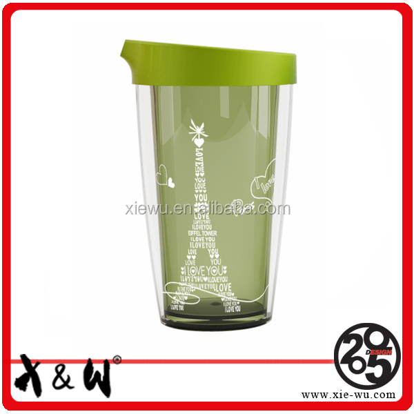 hot sale plastic travel mug for lovers