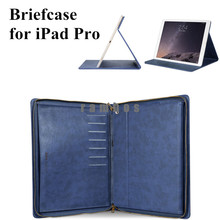 HOCO Genuine Leather Case Cover Portfolio Series Briefcase with Smart Wake/Sleep Function for iPad Pro 12.9 Inch