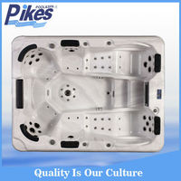 Hot tubs outdoor used with pop-up speakers