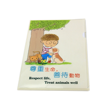 Hot sale cheap wholesale L shape A4 decorative portfolio plastic pocket file folder