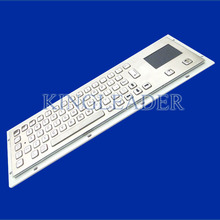 Industrial keyboard with touchpad