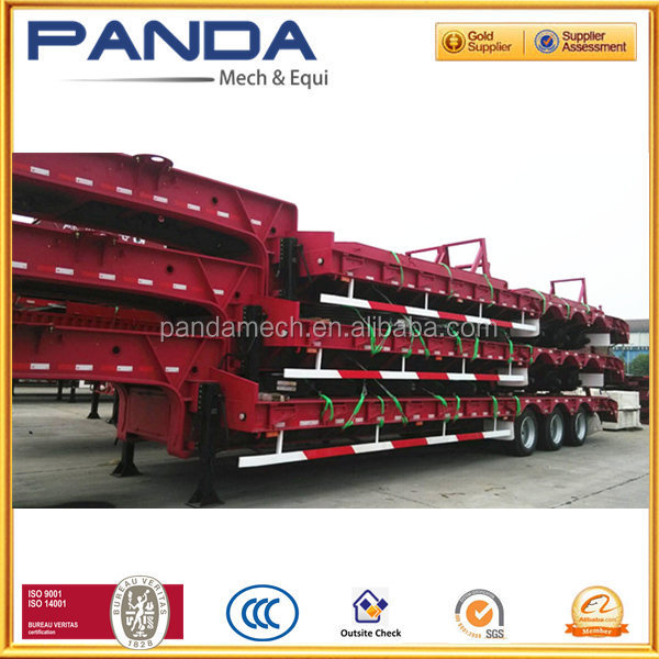 three BPW/FUWA axles gooseneck 40ft trailer for the transportation of excavator