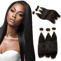 Raw Unprocessed Comb Electric Yaki Perm 100% Malaysian/Mongolian/Indian Silky Straight Virgin Hair