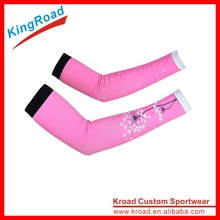 Wholesale breathable Dye sublimation printing sun protection sleeve arm warmer