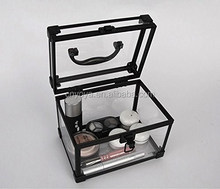 Aluminum Acrylic Beauty Cosmetic Case,Clear make up case