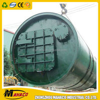 Waste used/scrap tire pyrolysis plant design rotary reactor