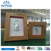 Intco wood with different colour lovely waterproof picture frame