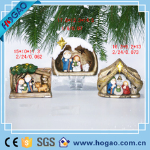 Handmade Christmas Decoration Resin Manger Statues