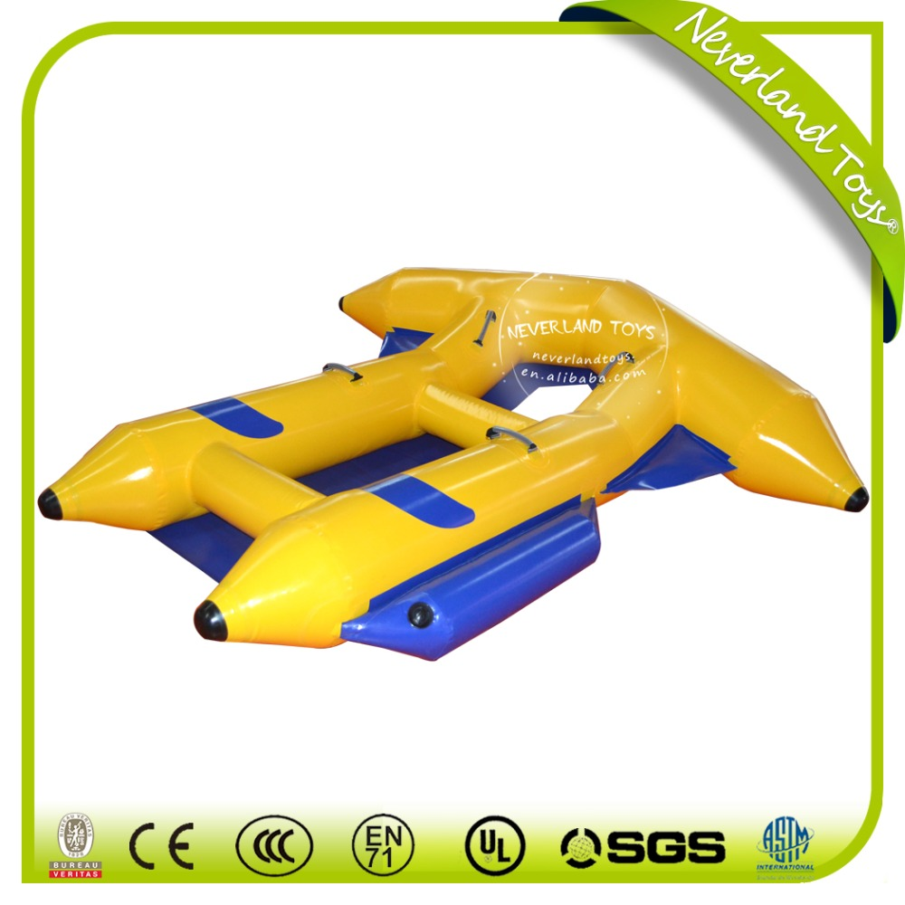 Inflatable flying fish water towable tubes/ inflatable water sled fly fish/ banana boat water sport game