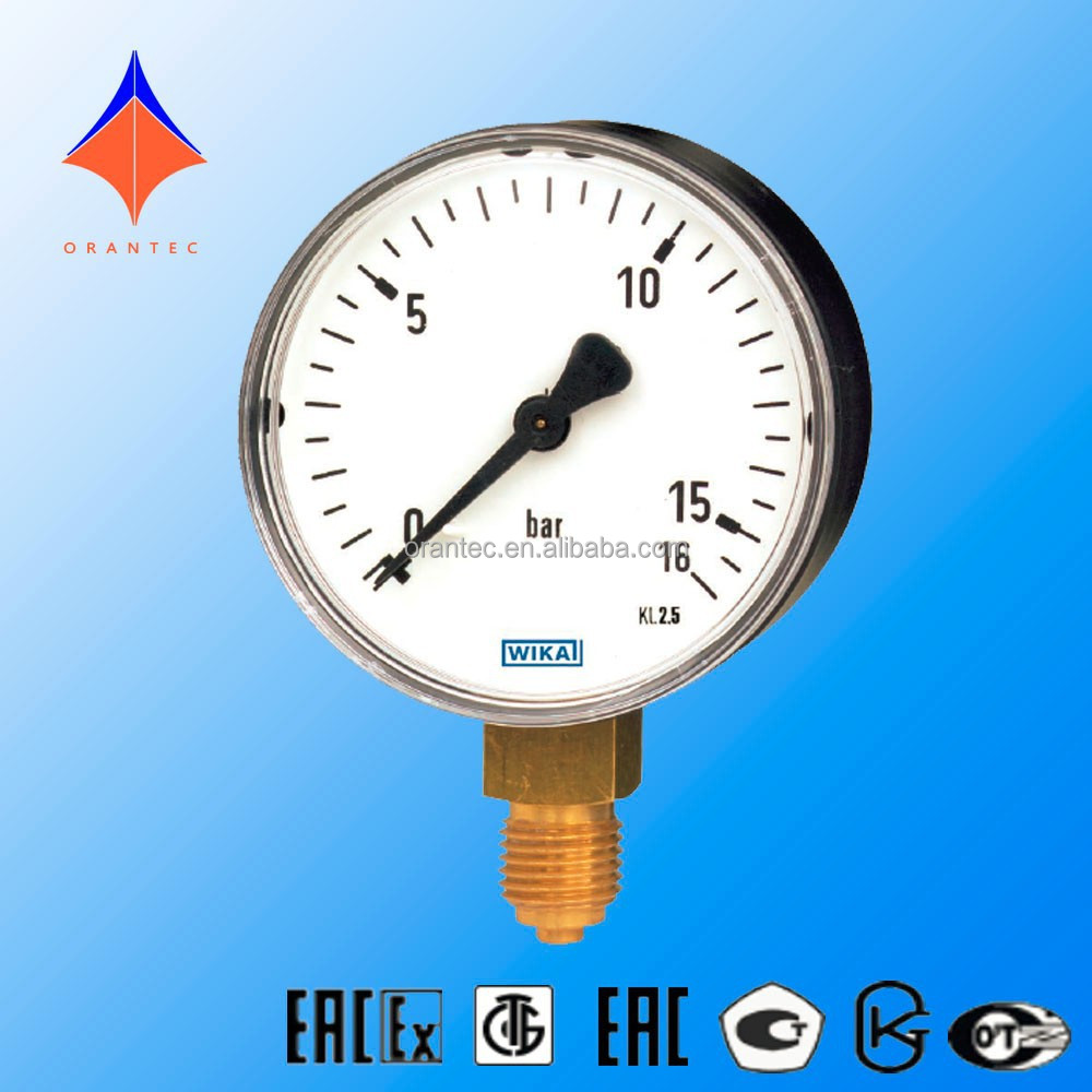 Marine Type Bourdon Tube Lower Mount Pressure Gauge For Liquid and Gaseous