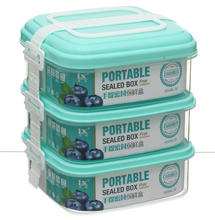 DIY The Layers Kitchenware Portable Waterproof Containers Plastic with Lid Handle