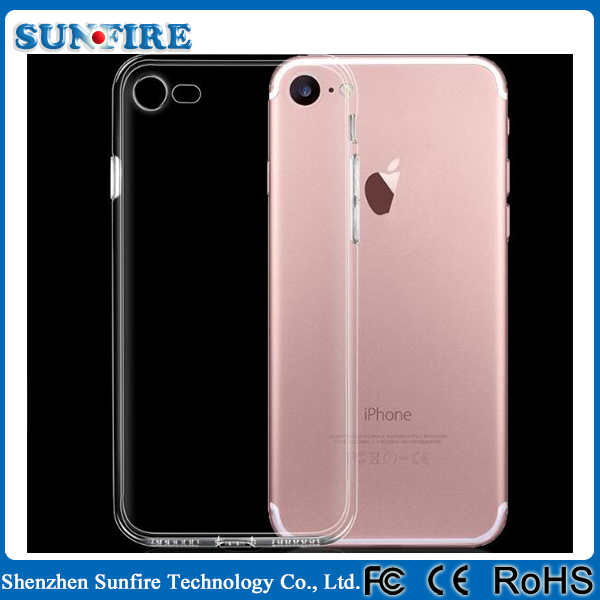 Shenzhen Factory Wholesale soft TPU transparent clear phone case for iphone 7
