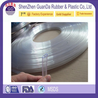 Hollow adhesive backed EPDM PVC silicone rubber strips
