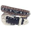 western style star concho studded cheap cowboy belt