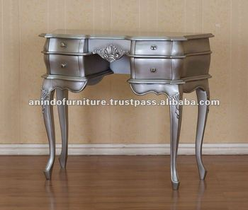 Indonesian Furniture - Silver Leaf Dressing Table 4 Drawers