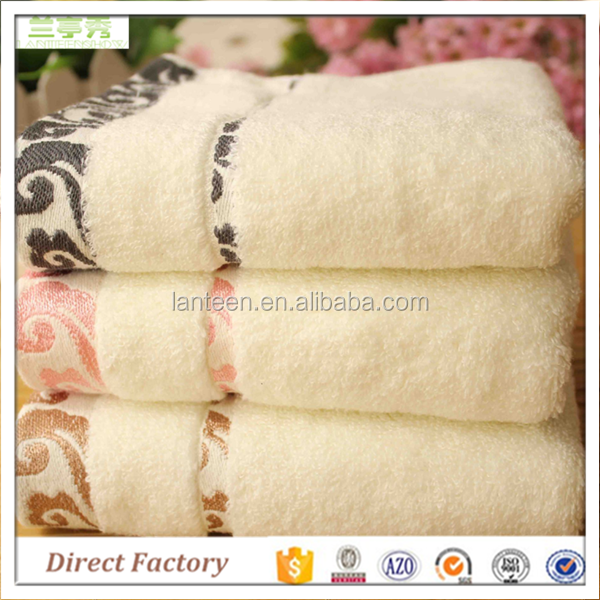 Pure cotton plush extra thick embroidered combed yarn gift towels