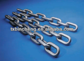 G30/G43/G50/G70/G80 DIN 766 electric galvanized steel link chain