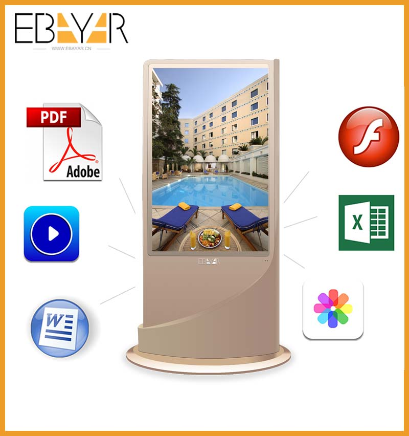 42 inch floor stand advertisement template/lcd picture video frame ad display/outdoor advertising machine