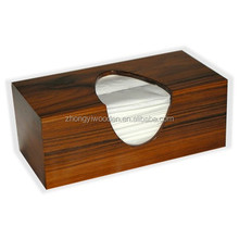 Hight quality unfinished wooden tissue box wooden paper case