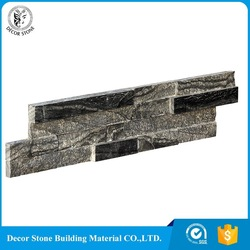 Decorstone24 China Natural Black Basalt Stone Cladding Wall Tile 15x60 CM