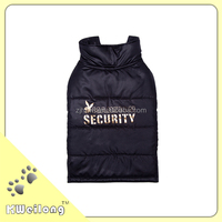 cute black quilted dog coat/pet cloth