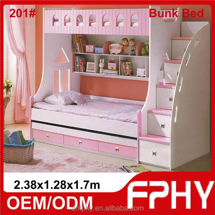 China Hot Sale Kids Double Deck Bed Kids Bunk Bed for School Use or for Mother and Child Use
