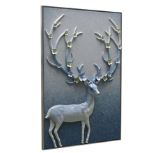 Room Hanging Decoration Antlers Blue 3d Wall Art