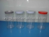 Length 155mm packaging Clear PVC test tub with molded plug on both ends