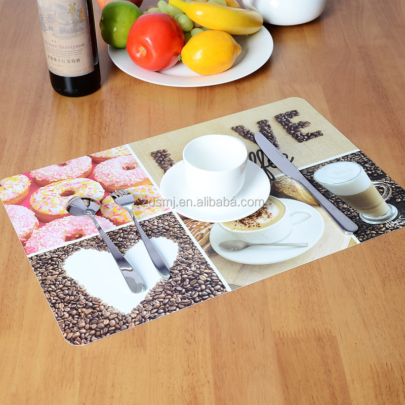 Hot sell yiwu factory directly selling kitchen pp/plastic dining placemat