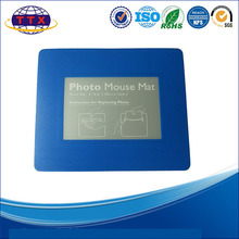 Photo insert lovely promotional mouse pad/ picture frame mouse mat