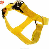 New design Custom LOGO Printed Plain Nylon Pet Collars Leads Harnesses for Dogs and Cats
