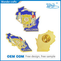 Hot sale customized design odd shape brass with pure gold plating hard enamel badges custom stamped pins