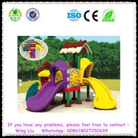 We take customers as our Gods ! New plastic playground slides for kids QX-18064C