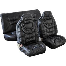 Universal Fit 6pcs Full Set Soft PU&Leather Auto Car Seat Cover