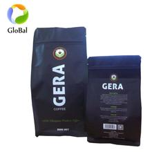 MATTE suface square bottom bag 250g 500g coffee bag /coffee bean packaging bag with top zipper