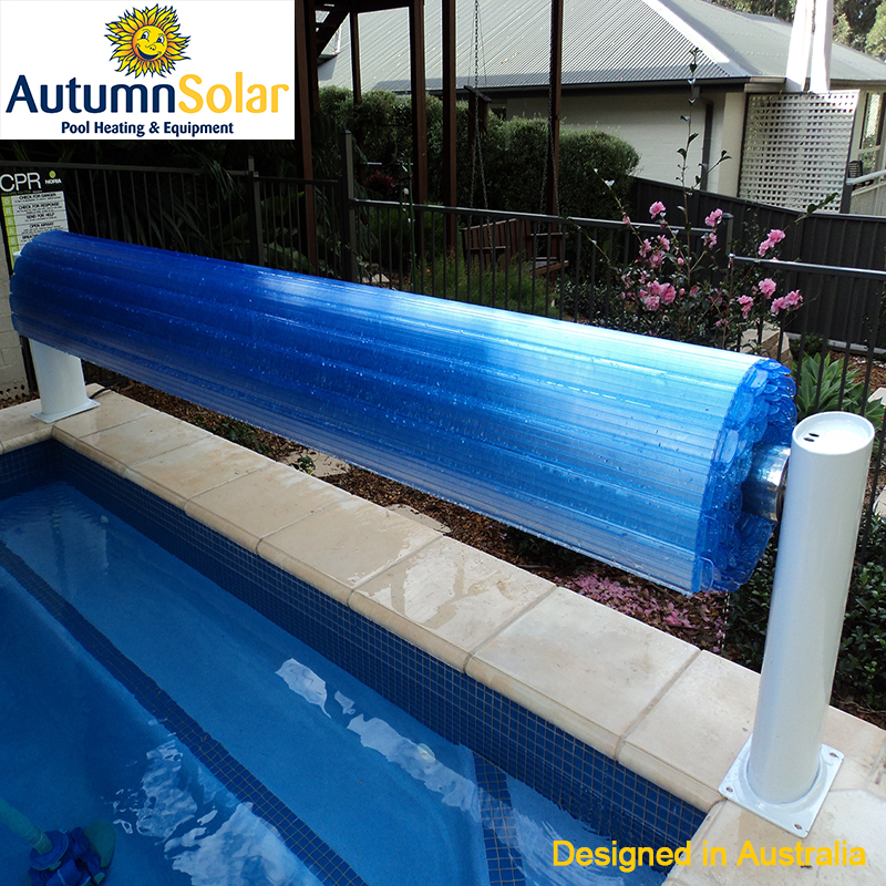 Fully automatic solar pool cover slats with warming pool water