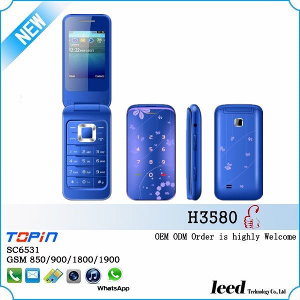 city call mobile phone with button flip cell phone mini movil South America telefon celular H3580