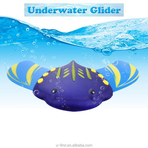 Stingray Underwater Glider, Self-Propelled, Adjustable Fins, Pool Game,Blue Ages 5 and up