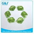 guojie brand High quality Fashion accessories Light green unique shape crystal