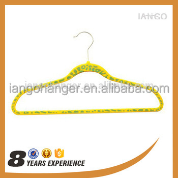 IANGO Wholesale velvet hanger/clothes hanger velvet/ suit velvet cloth hanger Y1314