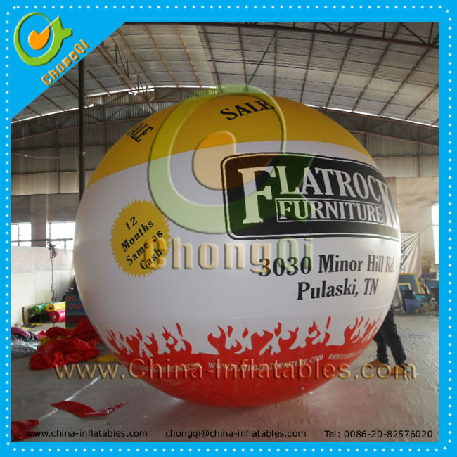 Inflatable floating advertising balloon , advertising inflatable helium balloon