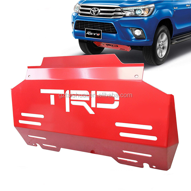 Hilux Revo accessories TRD bash plate steel front guard engine protection skid plate