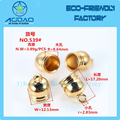 Eco-Friendly Bead End Caps Stopper/Metal Bell Stopper