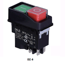 electromagnetic drill switch electromagnetic switch push button IP55 switch DZ-6 made in china